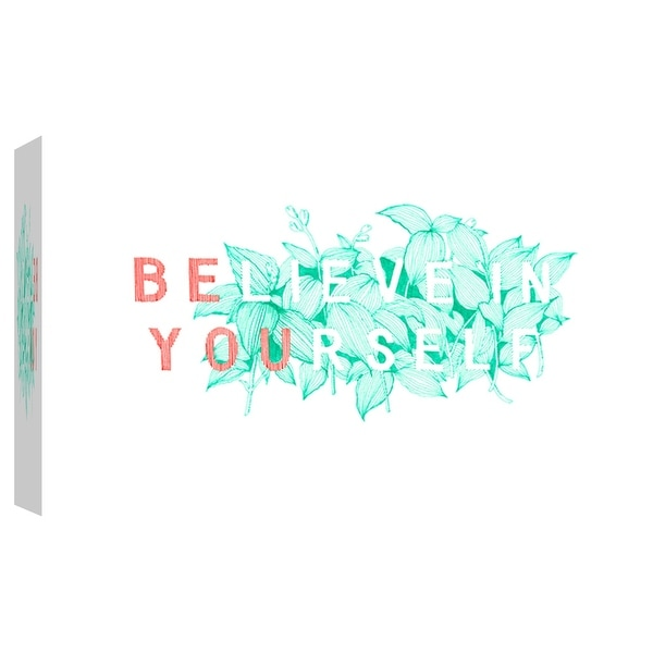"PTM Images 9-102096 PTM Canvas Collection 8"" x 10"" - ""Believe in Yourself"" Giclee Flowers Art Print on Canvas"