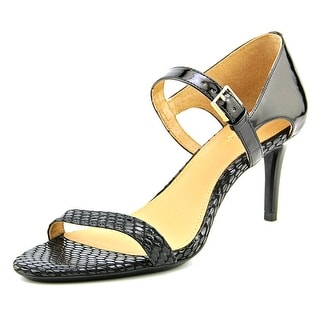 Calvin Klein Luigina Women Open-Toe Patent Leather Heels