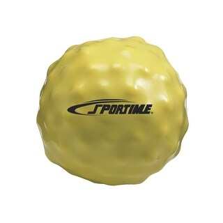Sportime 2.2 lb, 5 in Yuck-E-Medicine Ball, Yellow
