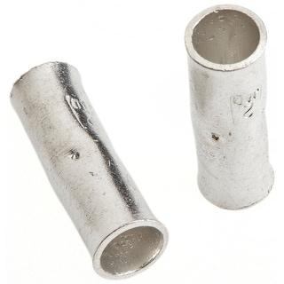 Forney 60111 Butt Connectors, Zinc Plated, 2/Pack