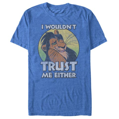 Lion King Scar I Wouldn't Trust Me Either Mens Graphic T Shirt