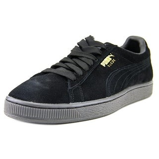 Puma Suede Classic + Mono Reflced Men Round Toe Suede Black Sneakers