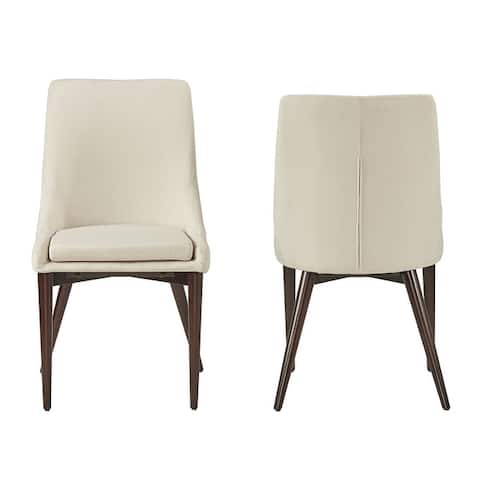Sasha Mid-Century Barrel Back Dining Chairs (Set of 2) by iNSPIRE Q Modern