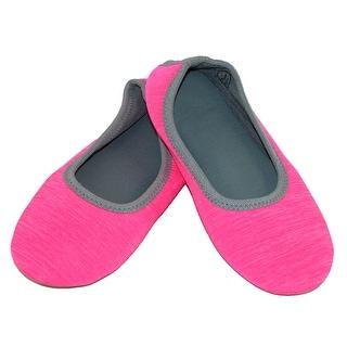 Isotoner Women's Heathered Sport Drew Ballerina Slippers
