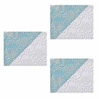 3 Wallpapers White Embossed Textured Vinyl Kensington