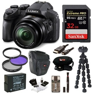 Panasonic DMC-FZ300K Digital Camera /w 32GB SD Card and Accessory Bundle