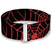 Spider web Black Red Cinch Waist Belt   ONE SIZE
