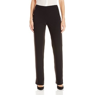 Catherine Malandrino NEW Black Womens Size 8 Button-Pocket Dress Pants