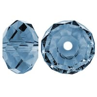 Swarovski Elements Crystal, 5040 Rondelle Beads 6mm, 10 Pieces, Denim Blue