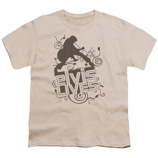 Elvis Elvis Lives Big Boys Youth Shirt