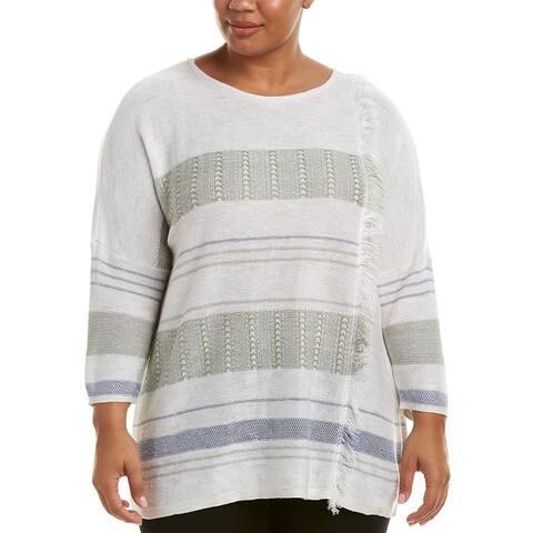 Nic+Zoe Plus Linen-Blend Sweater