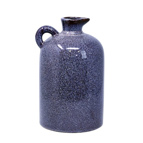 "Ceramic 10.25"" Pitcher, burgundy"