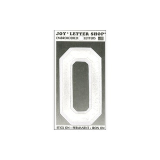 "Joy Applique Letter Iron On Varsity 3"" White O"