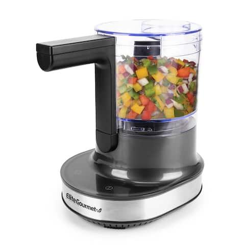 Elite Gourmet Hover Chop 4 Cup Food Chopper- EMC4423