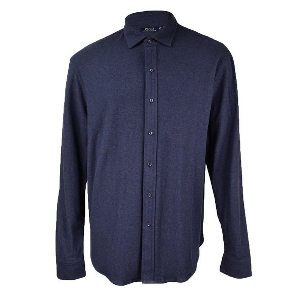 21a0c324 Shop Polo Ralph Lauren Men's Jacquard Shirt - Winter Navy - S - On Sale - Free  Shipping On Orders Over $45 - Overstock - 25460040