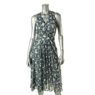 Anne Klein Womens Printed Sleeveless Wear to Work Dress - 6