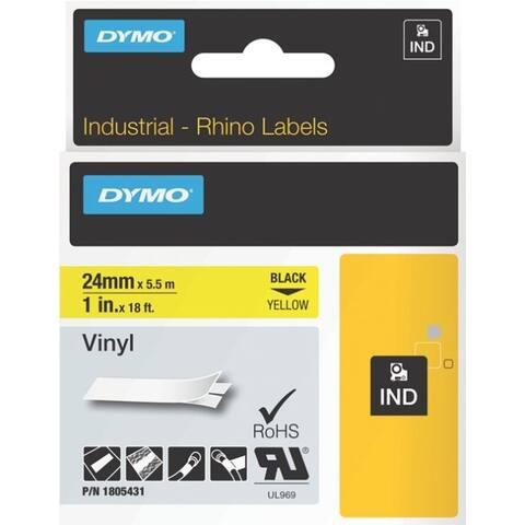 Dymo 1805431 rhino 1in yellow vinyl-24mm