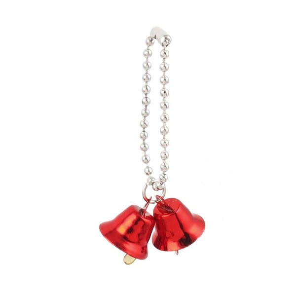 Unique Bargains 0.6 Dia Ring Bell Pendant Chain Christmas Tree Decor Xmas Gift Red