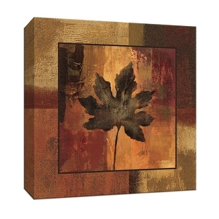 """PTM Images 9-153379  PTM Canvas Collection 12"""" x 12"""" - """"October Leaf I"""" Giclee Leaves Art Print on Canvas"""