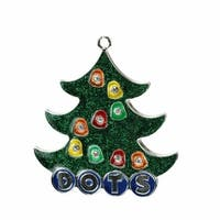 Silver Plated Dots Candy Logo Christmas Tree Ornament with Europea