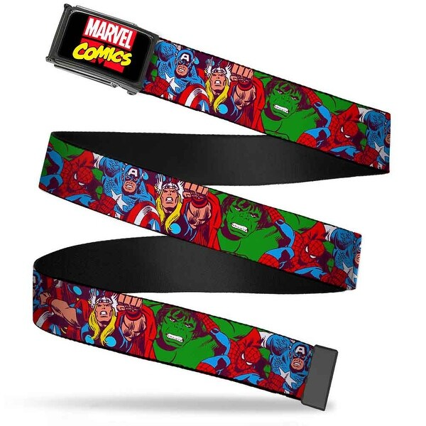 Marvel Comics marvel Comics Logo Fcg Black Red Yellow Chrome 4 Web Belt