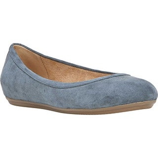 Naturalizer Womens Brittany Leather Closed Toe Slide Flats