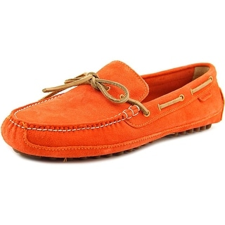 Cole Haan Grant Canoe Camp Men Square Toe Leather Orange Loafer