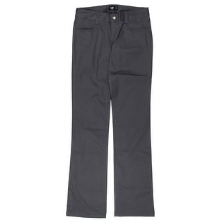 Lee Womens Juniors Straight Leg Pants Classic 5 Pocket Lowest Rise - 3