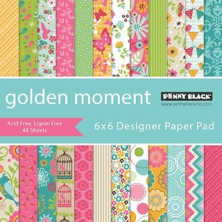 "Penny Black Single-Sided Paper Pad 6""X6"" 48/Pkg-Golden Moment"