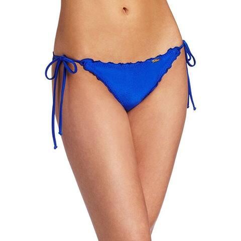 Luli Fama Women's Cosita Buena Wavey Tie Side Ruched Brazilian Bottom Sz: L
