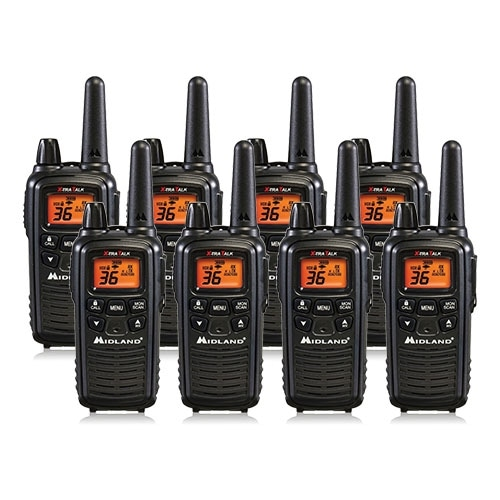 Midland Xtra Talk LXT600VP3 Two Way Radio w/ 36 Selectable Channels & 121 Privacy Codes- 8 Pack