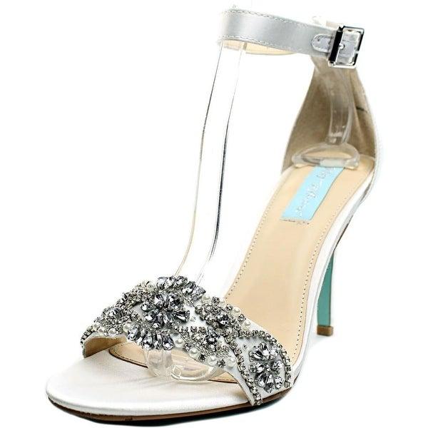 Betsey Johnson Juno Women Open Toe Canvas Ivory Sandals