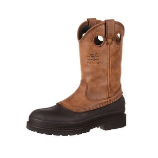 "Georgia Boot Work Men 12"" Muddog Pull Comfort Mississippi Brown G5514"