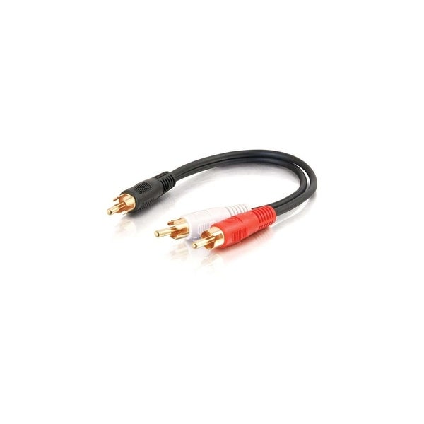 C2G 03161 C2G 6in Value Series One RCA Mono Male to Two RCA Stereo Male Y-Cable - RCA Male - RCA Male - 6""