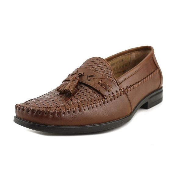 Nunn Bush Strafford Woven Men Round Toe Leather Brown Loafer