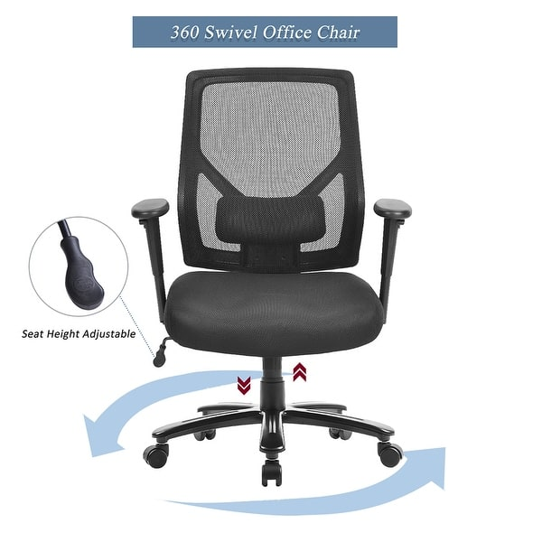 Shop Home Office Chair With Lumbar Support Adjustable Office Desk Chair On Sale Overstock 31842328