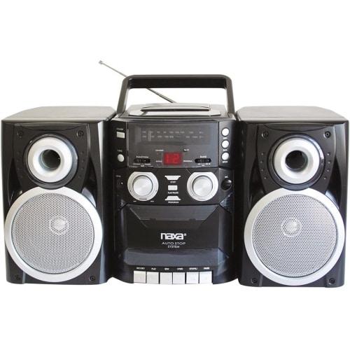 """""""Naxa NPB426 Naxa NPB-426 Mini Hi-Fi System - 16 W RMS - iPod Supported - Black - CD Player, Cassette Recorder - AM, FM - 2"""