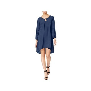 NY Collection Womens Casual Dress Peasant Keyhole