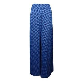 Bar III Women's Printed Wide-leg Pants - antique wt combo - M
