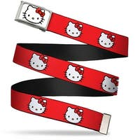 Hello Kitty Face Fcg White Chrome Frame Hello Kitty White Face Red Web Belt