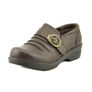 Easy Street Ode Women W Round Toe Synthetic Brown Clogs