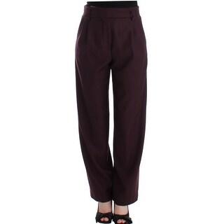 CO TE CO TE Purple wide Leg wool pants - it42-m