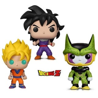 Funko Pop! Animation Dragon Ball Z - Perfect Cell, Super Saiyan Goku and Gohan (Training Outfit) (3 Items)