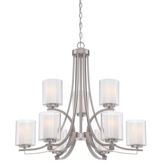Minka Lavery 4109-84 9 Light 2 Tier Chandeliers from the Parsons Studio Collection