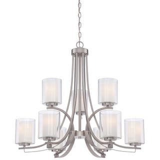 Minka Lavery 4109-84 9 Light 2 Tier Chandeliers from the Parsons Studio Collection https://ak1.ostkcdn.com/images/products/is/images/direct/fb54175bf1b27a41004e6f4742253f55727ce196/Minka-Lavery-4109-84-9-Light-2-Tier-Chandeliers-from-the-Parsons-Studio-Collection.jpg?impolicy=medium