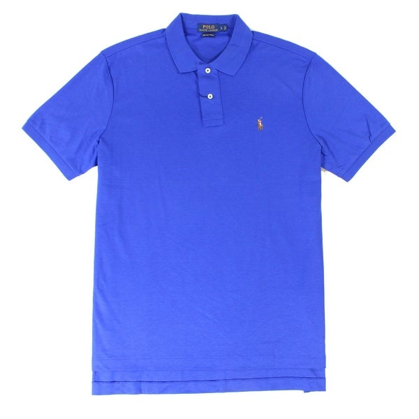 7dbb7dbfa1cca Shop Polo Ralph Lauren NEW Blue Mens Size XL Pima Soft-Touch Polo ...