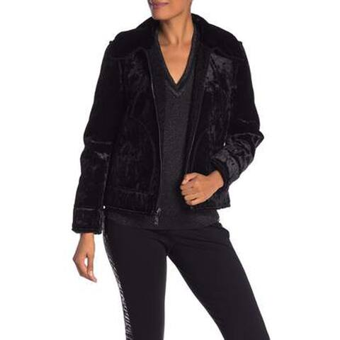 Laundry by Shelli Segal Reversible Zip Front Jacket, Black, Medium