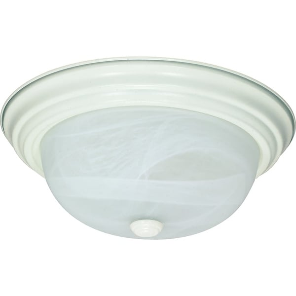 """Nuvo Lighting 60/2628 2 Light 11-3/8"""" Wide Flush Mount Bowl Ceiling Fixture - textured white"""