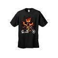 Men's T-Shirt Biker Skull Flames Motorcycle Skeleton Rider Grim Reaper Chopper - Thumbnail 0