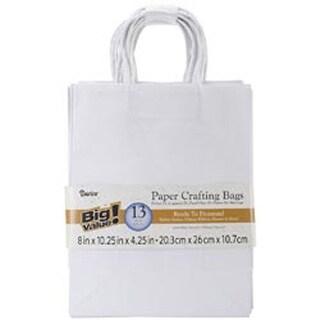 "White - Paper Bags 4.25""X8""X10.25"" 13/Pkg"